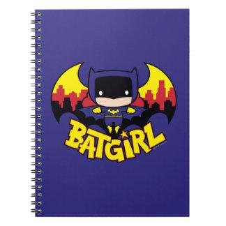 Chibi Batgirl With Gotham Skyline & Logo Notebooks