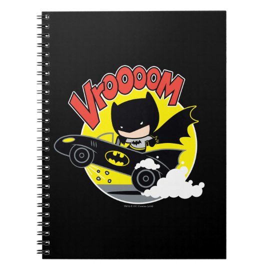 Chibi Batman In The Batmobile Notebook