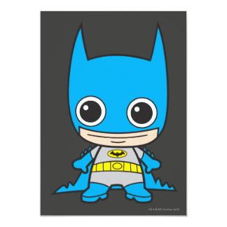 Chibi Batman 13 Cm X 18 Cm Invitation Card