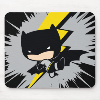 Chibi Batman Lightning Kick Mouse Mat