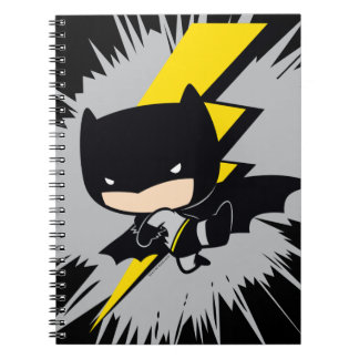 Chibi Batman Lightning Kick Notebooks