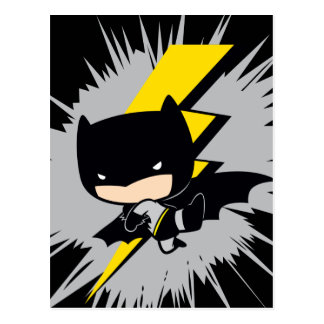 Chibi Batman Lightning Kick Postcard