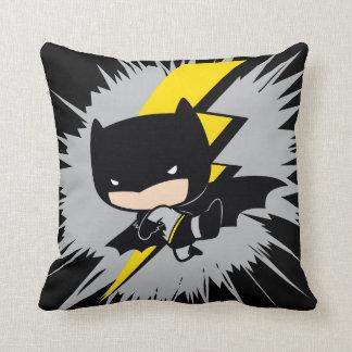 Chibi Batman Lightning Kick Throw Pillow