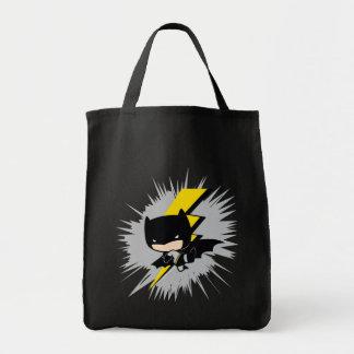 Chibi Batman Lightning Kick Tote Bag