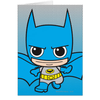 Chibi Batman Running Greeting Card