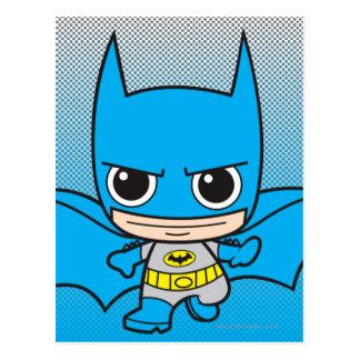 Chibi Batman Running Postcard