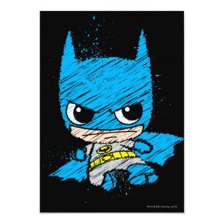 "Chibi Batman Sketch 5"" X 7"" Invitation Card"
