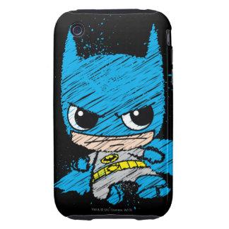 Chibi Batman Sketch Tough iPhone 3 Cases