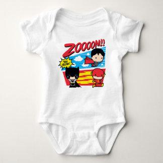 Chibi Batman Too Slow! Baby Bodysuit
