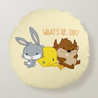 Chibi BUGS BUNNY™, TWEETY™, & TAZ™ Round Cushion