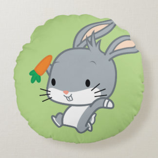 Chibi BUGS BUNNY™ With Carrot Round Cushion