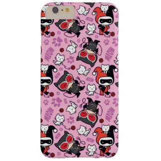 Chibi Catwoman, Harley Quinn, & Kittens Pattern Barely There iPhone 6 Plus Case