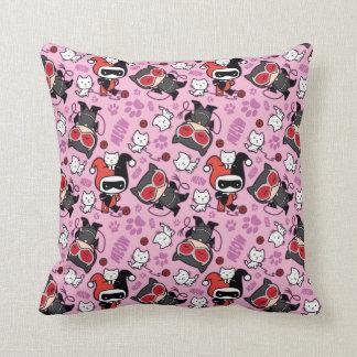 Chibi Catwoman, Harley Quinn, & Kittens Pattern Cushion