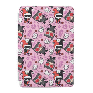 Chibi Catwoman, Harley Quinn, & Kittens Pattern iPad Mini Cover