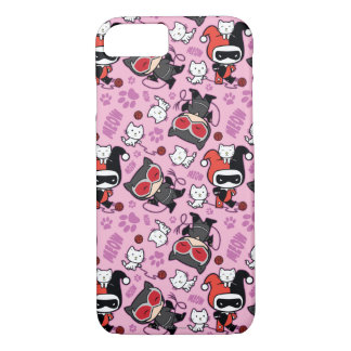 Chibi Catwoman, Harley Quinn, & Kittens Pattern iPhone 8/7 Case