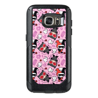 Chibi Catwoman, Harley Quinn, & Kittens Pattern OtterBox Samsung Galaxy S7 Case