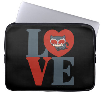 Chibi Catwoman LOVE Laptop Sleeve