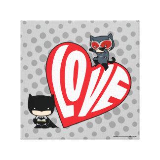 Chibi Catwoman Pounce on Batman 2 Canvas Print