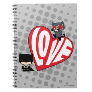 Chibi Catwoman Pounce on Batman Notebook