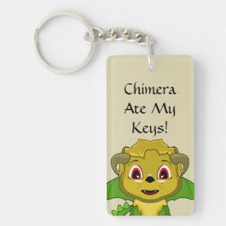 Chibi Chimera Double-Sided Rectangular Acrylic Keychain