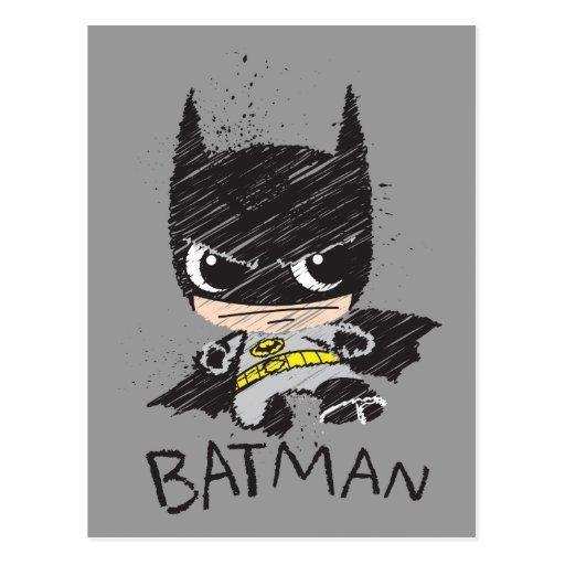 Chibi Classic Batman Sketch Post Cards