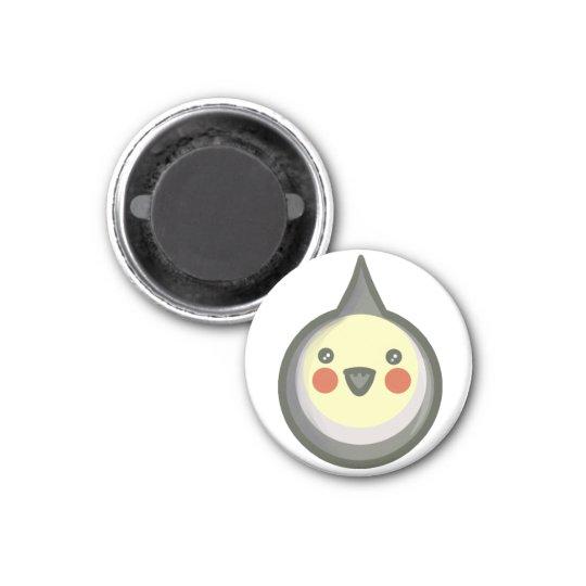 Chibi Cockatiel 3 Cm Round Magnet