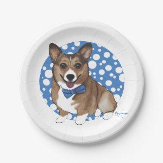 Chibi Corgi Paper Plate
