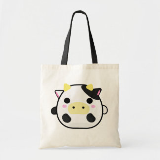 Chibi Cow Budget Tote Bag
