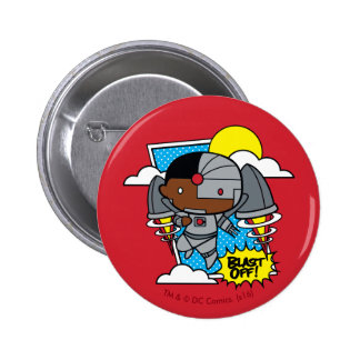 Chibi Cyborg Blast Off! 6 Cm Round Badge