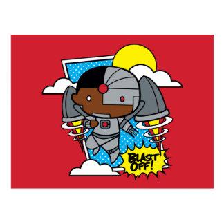 Chibi Cyborg Blast Off! Postcard