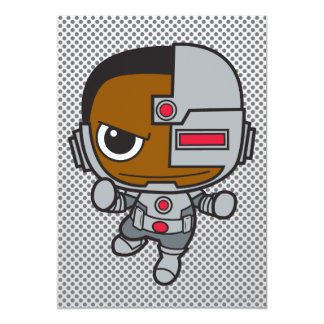 Chibi Cyborg 13 Cm X 18 Cm Invitation Card