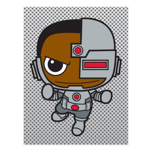 Chibi Cyborg Postcard