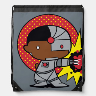 Chibi Cyborg's Cybernetic Cannon Drawstring Bag