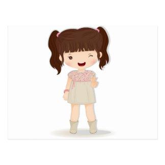 Chibi Doll Postcard