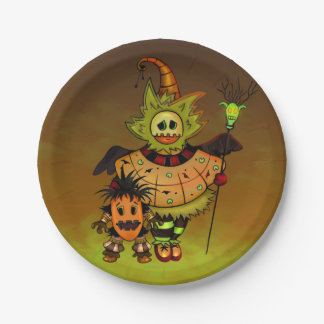 "CHIBI DOLLS ALIEN MONSTERS Paper Plates 7"" 7 Inch Paper Plate"