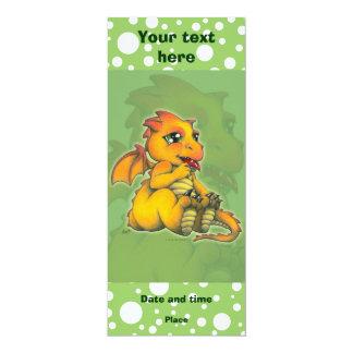 Chibi Dragon 10 Cm X 24 Cm Invitation Card