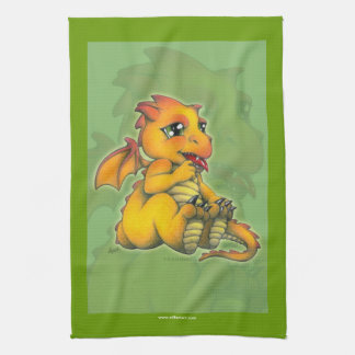 Chibi Dragon Tea Towel