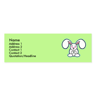 Chibi Easter Bunny - Green Business Cards