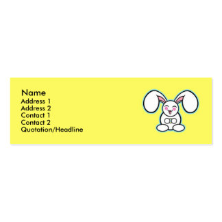 Chibi Easter Bunny - Yellow Business Card Template