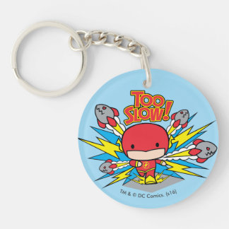 Chibi Flash Outrunning Rockets Key Ring