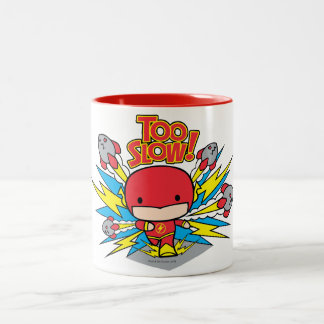 Chibi Flash Outrunning Rockets Two-Tone Coffee Mug