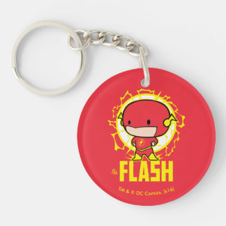 Chibi Flash With Electricity Key Ring