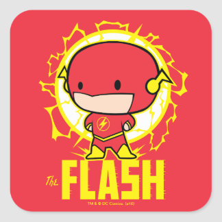 Chibi Flash With Electricity Square Sticker