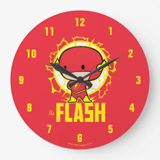Chibi Flash With Electricity Wall Clocks