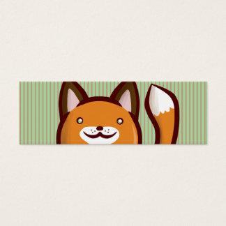 Chibi Fox Bookmark Mini Business Card