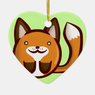 Chibi Fox Christmas Ornament