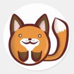 Chibi Fox Classic Round Sticker