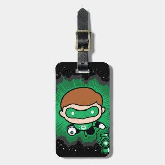Chibi Green Lantern Flying Through Space Luggage Tag
