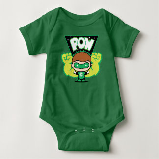 Chibi Green Lantern Forming Giant Fists Baby Bodysuit