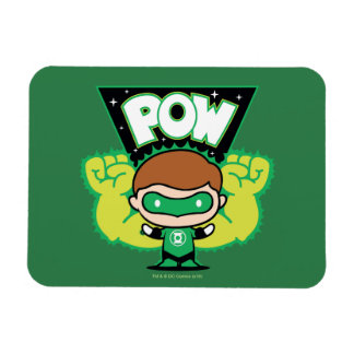 Chibi Green Lantern Forming Giant Fists Rectangular Photo Magnet